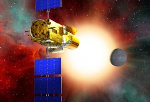 Immagine artistica del satellite CoRoT