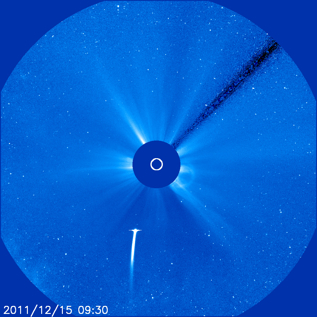 Cometa Lovejoy vista a SOHO