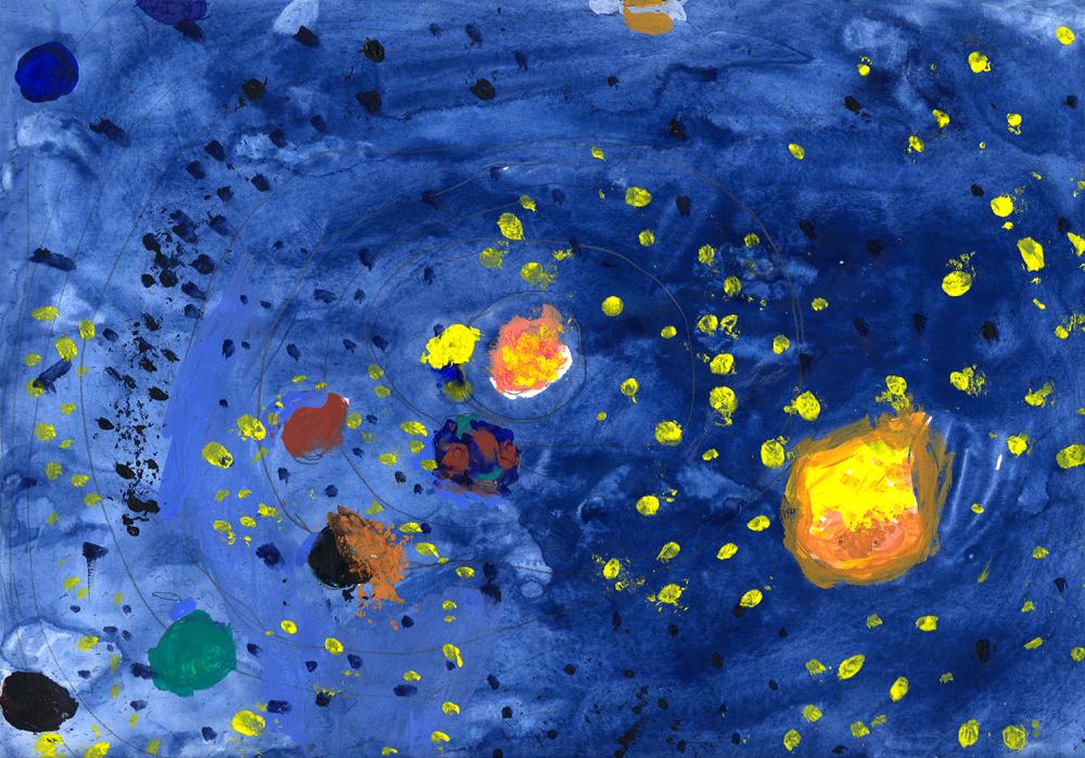 Osserva il cielo e disegna le tue emozioni media inaf for Disegno terra da colorare