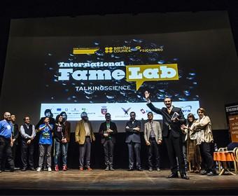 Un momento della finale di FameLab 2012 a Perugia
