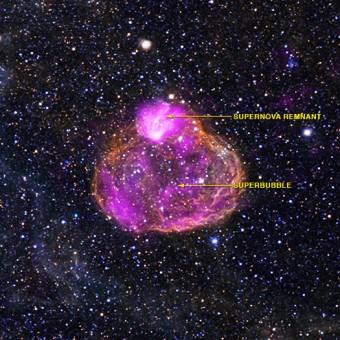 Crediti: X-ray: NASA/CXC/Univ of Michigan/A.E.Jaskot, Optical: NOAO/CTIO/MCELS