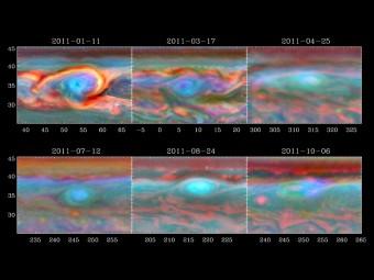 Il vortice della tempesta du Saturno (Crediti: NASA/JPL-Caltech/SSI/Hampton University)