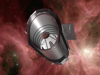 Visione artistica del telescopio spaziale SPICA. Crediti: ESA, JAXA