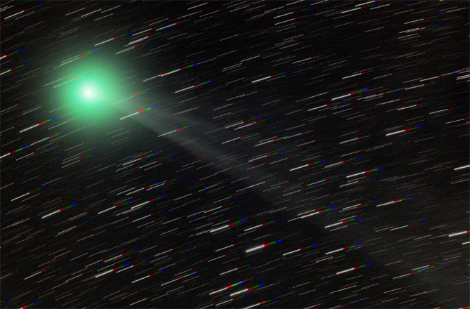 Immagine della cometa Lemmon. CREDIT:Photo of Comet Lemmon © Peter Ward