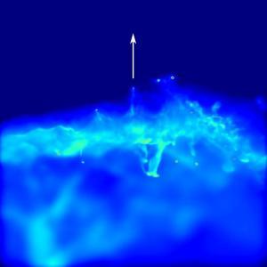 Cosmic Web Stripping. CREDIT: Alejandro Benitez Llambay
