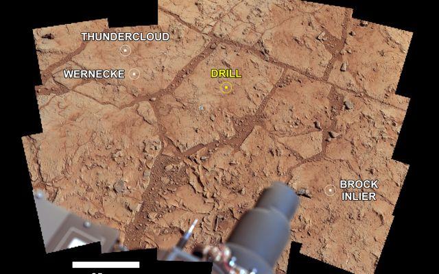 L'area del Gale Crater marziano dove Curiosity sta effettuando le sue misure. Crediti: NASA/JPL-Caltech/MSSS