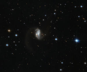 L'immagine della galassia IRAS23436 5257 catturata  dal telescopio della NASA Hubble. CREDIT: ESA/Hubble and NASA, Acknowledgement: Judy Schmidt
