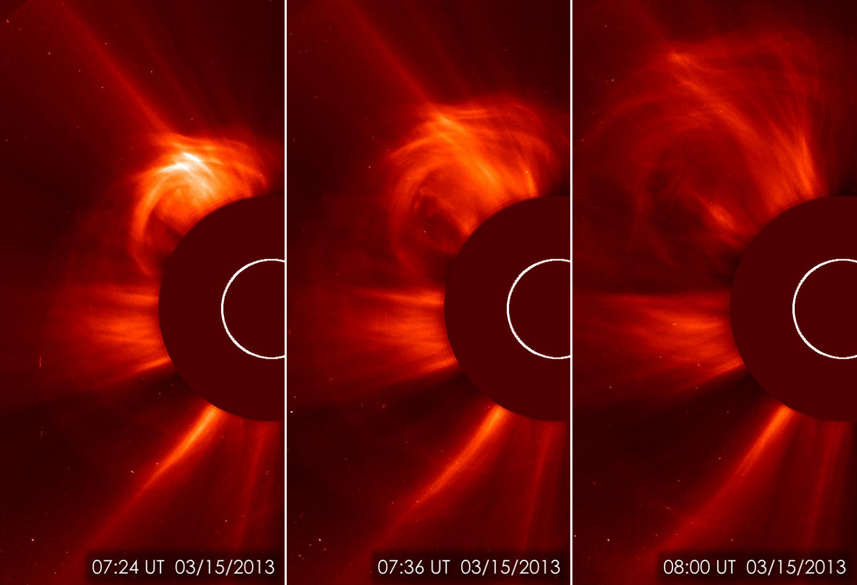 Immagine ottenuta con SOHO missione ESA/NASA lo scorso 15 marzo