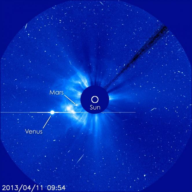 Un'altra immagine di SOHO. Crediti: ESA&NASA/SOHO/GSFC