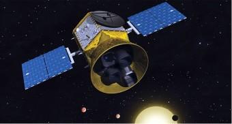Rappresentazione artistica di TESS. CREDIT: MIT Kavli Istituto di Astrofisica e di ricerca spaziale.