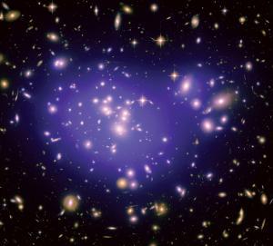 Un ammasso di galassie dei più comuni, densamente popolato, al contrario della tripletta solitaria descritta nell'articolo. Crediti: NASA/ESA/STScI/SPL