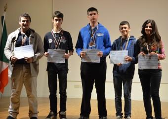 I vincitori della finale nazionale 2013. Da sinistra: Barilla, Santoni, Codato, Giunta, Neri