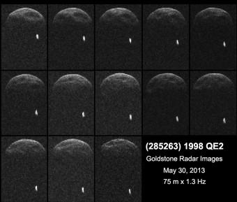 Prima immagini radar dell'asteroide