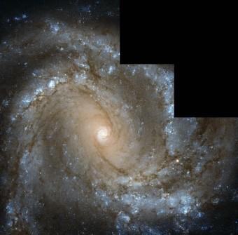 La Galassia a spirale Messier 61, anche nota come NGC 4303, ripresa dalla Wide Field Camera 2 del telescopio spaziale Hubble della NASA. Crediti: NASA/ESA