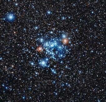 36 di queste stelle fanno parte di una nuova classe di stelle variabili finora sconosciuta. L'immagine è stata ottenuta con il telescopio da 2,2 metri dell'MPG/ESO all'Osservatorio di La Silla. (Crediti: ESO)