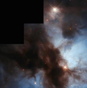 Messier 20, la Nebulosa Trifida. Credit: ESA / Hubble & NASA, Riconoscimento: Bruno Conti