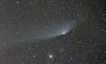 La cometa PASTARRS ripresa tre giorni prima delle osservazioni spettroscopiche descritte nell'articolo (credit: Marco Fulle)