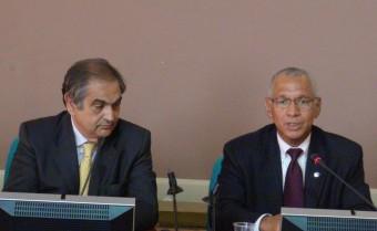 Da sinistra: il Presidente dell'ASI, Enrico Saggese e l'Amministratore della NASA, Charle Bolden