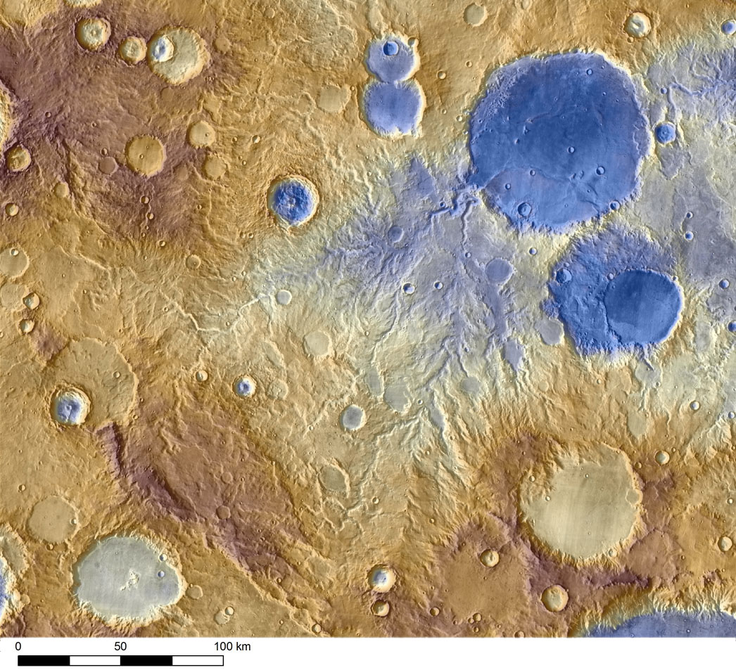 Mars from the Odyssey spacecraft