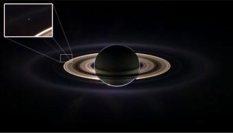 La Terra vista da Cassini a Saturno nel 2006. Crediti: NASA/JPL/Space Science Institute