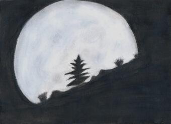 """Luna piena. Crediti: Giovanni, """"Osserva il cielo e disegna le tue emozioni"""" (OA Catania, 2013)."""