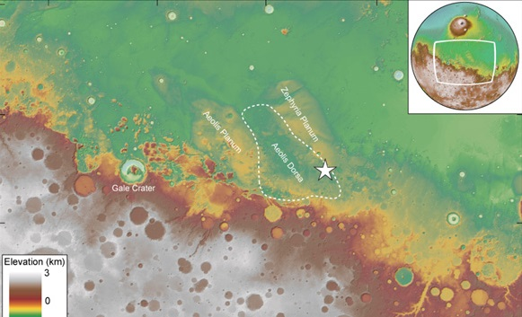 Credit: DiBiase et al./Journal of Geophysical Research/2013 and USGS/NASA Landsat - See more at: http://www.caltech.edu/content/evidence-martian-ocean#sthash.gEctrW6V.dpuf