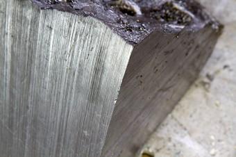 Il meteorite rimodellato da Katie Paterson (fonte: katiepaterson.org)