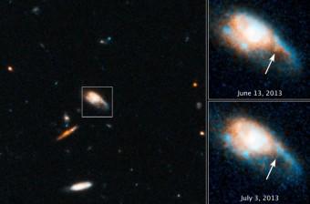 La serie di osservazioni con il telescopio spaziale Hubble alla base della ricerca (Credit: NASA, ESA, N. Tanvir (University of Leicester)