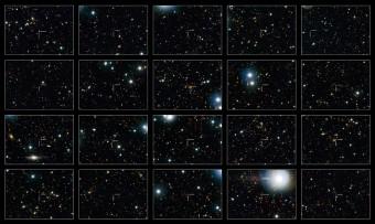 Alcune delle galassie inattive osservate dalla survey COSMOS. Crediti: NASA, ESA, M. Carollo (ETH Zurich)