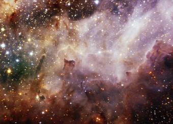 Immagine ottenuta con FLAMINGO-2 nel vicino-infrarosso della Nebulosa Cigno (M17), una delle regioni nella nostra galassia in cui è più intensa la formazione stellare. Crediti: Gemini Observatory/AURA