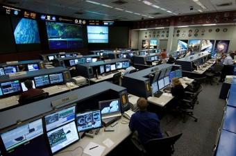 La control room della ISS, una delle poche strutture NASA che funzionano regolarmente dopo lo shutdown