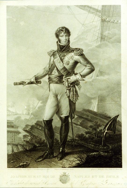 Gioacchino Murat Re di Napoli e Sicilia disegno di J.-B. Bosio, incisione di L. Rados