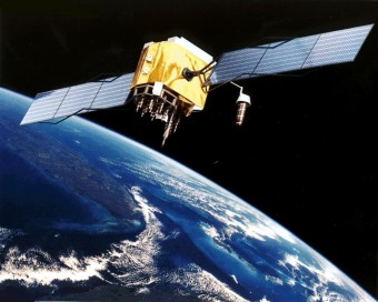 Un satellite GPS in orbita. Crediti: NASA