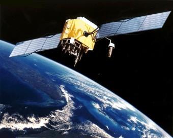 Un satellite GPS in orbita. Crediti: NASA