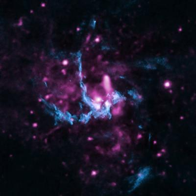 Crediti: X-ray: NASA/CXC/UCLA/Z. Li et al; Radio: NRAO/VLA