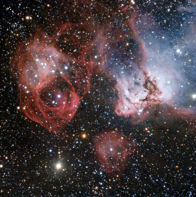 La regione di formazione stellare NGC 2035 ripresa dal VLT (Very Large Telescope) dell'ESO. (Crediti: ESO)