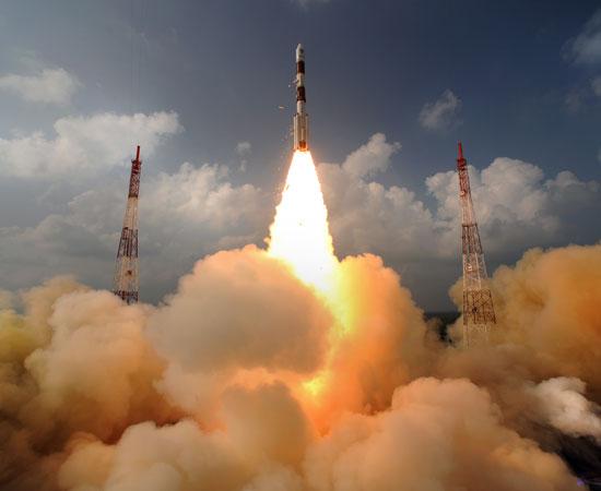 MOM,  la sonda spaziale che cercherà di raggiungere Marte. Crediti: ISRO (Indian Space Research Organization)