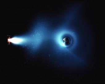 Simulazione delle cinture di Van Allen. Crediti: NASA