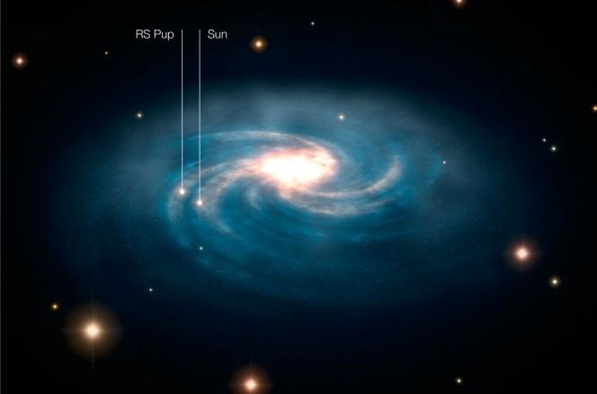 RS Puppis nella Via Lattea. Crediti: ESA/Hubble & ESO