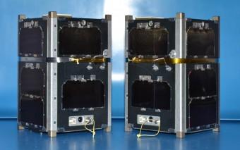 I due satelliti gemelli FIREBIRD. Crediti: MSU Space Science and Engineering Laboratory