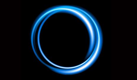 Sfondo di un cerchio di neon blu. Illustrazione vettoriale. Crediti: Shutterstock