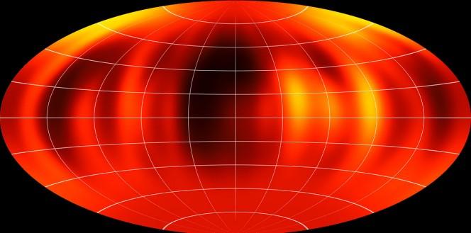 Mappa della superficie di Luhman 16B riprodotta a partire dalla osservazioni VLT. Crediti: ESO/I. Crossfield