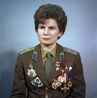 Valentina Tereshkova, prima donna russa nello spazio.