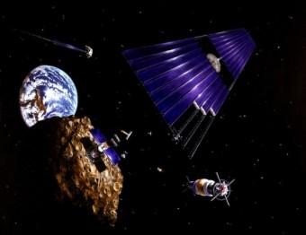 Attività estrattive su un asteroide. Sarà questo il futuro qui ipotizzato dalla NASA? Crediti: NASA/Denise Watt
