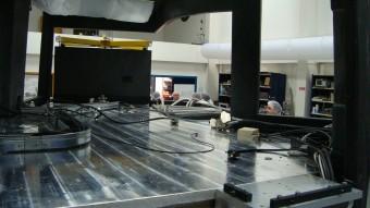 Banco ottico dove sono mantati tutti gli strumenti e l'elettronica SPHERE