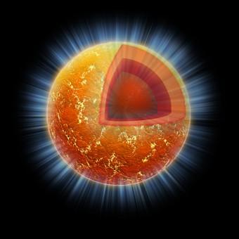 Rappresentazione artistica di una stella di neutroni. Crediti: NASA/CXC/M.Weiss