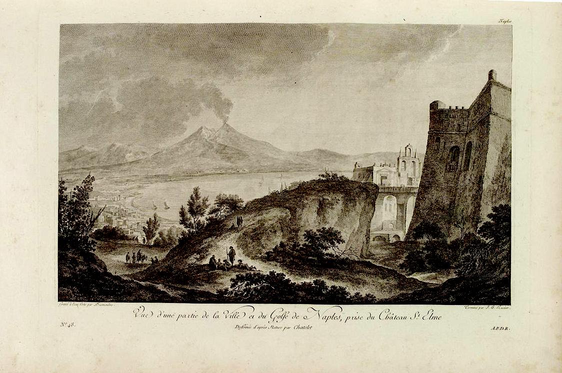 il lato nord del castello con la garitta usata da Rizzi Zannoni, (1781 ca.)