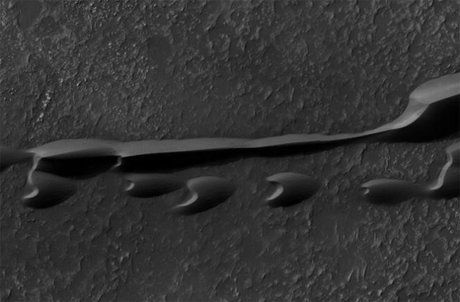 Dune barcane nella regione Hellespontus