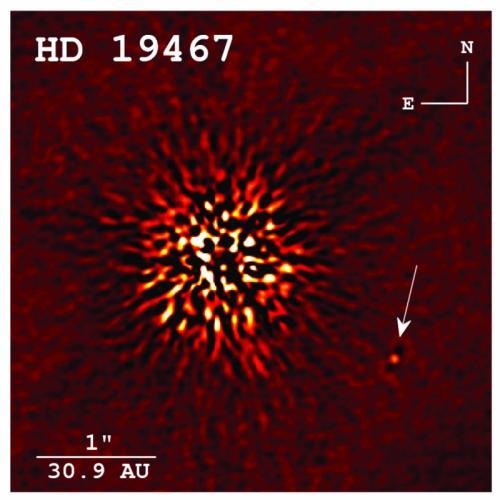 Immagine di una rara nana bruna scattata dall'Osservatorio Keck. Crediti: CREPP ET AL. 2014, APJ