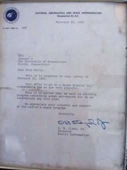 Lettera di rifiuto inviata dalla NASA a una donna nel 1962. Via reddit.com